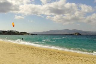 location orkos blue coast naxos kitesurfing