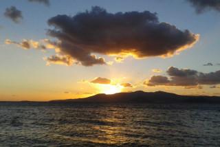 location orkos blue coast naxos sunset