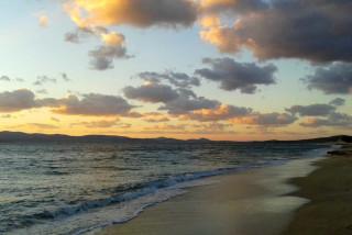 location orkos blue coast sunset